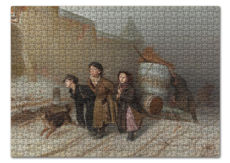 Пазл 43.5 x 31.4 (408 элементов) Printio Тройка (картина перова) цена