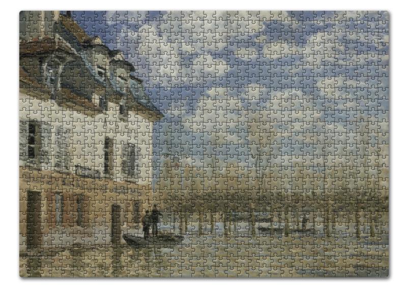 Пазл 43.5 x 31.4 (408 элементов) Printio Лодка во время наводнения (альфред сислей) сислей а альфред сислей альбом