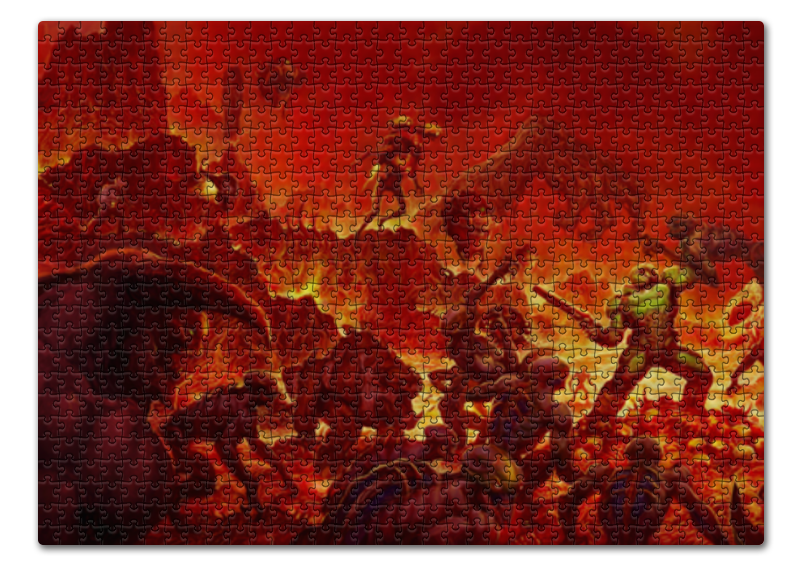 лучшая цена Пазл 43.5 x 31.4 (408 элементов) Printio Doom 4