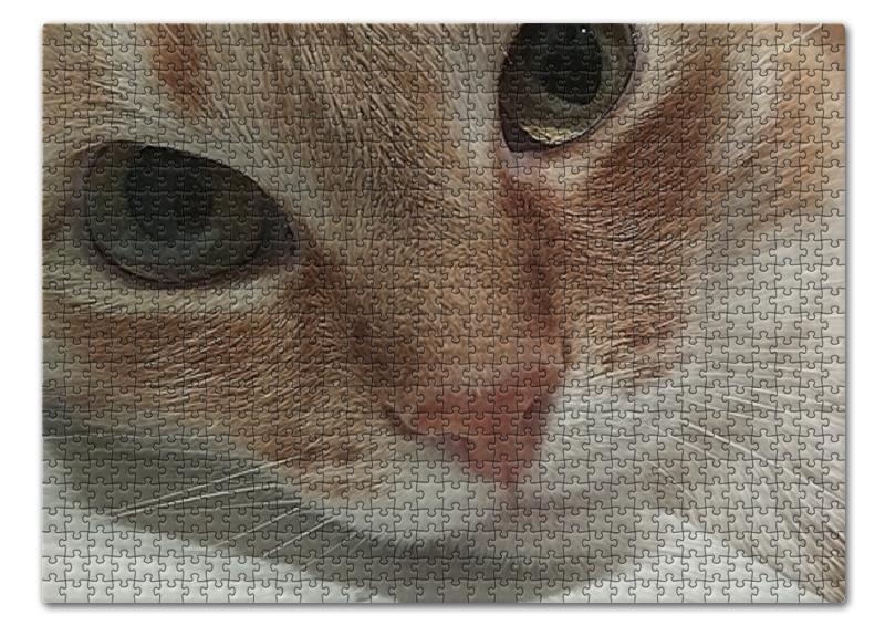 Пазл 43.5 x 31.4 (408 элементов) Printio Задумчивый кот