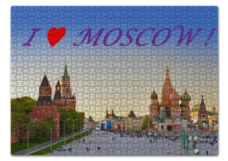 Пазл 43.5 x 31. (408 элементов) Printio  love moscow !