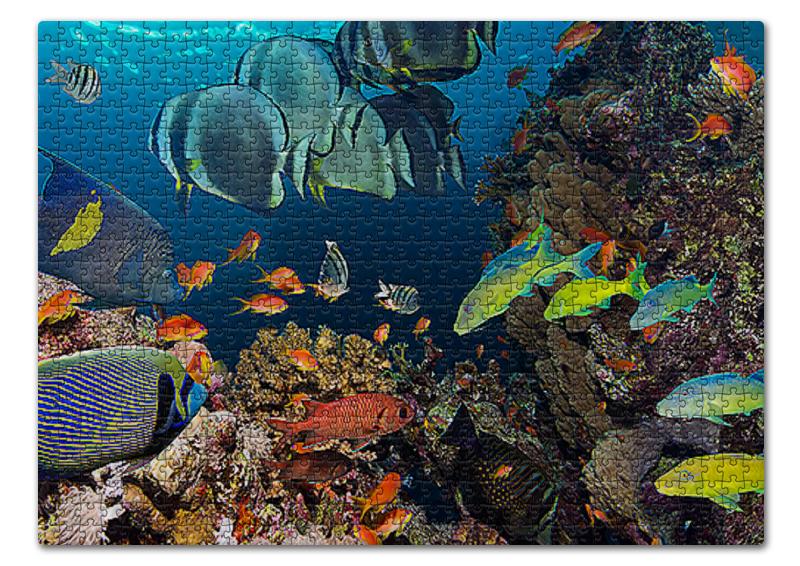 Пазл 43.5 x 31.4 (408 элементов) Printio Подводный мир пазл объёмный подводный мир 7эл janod
