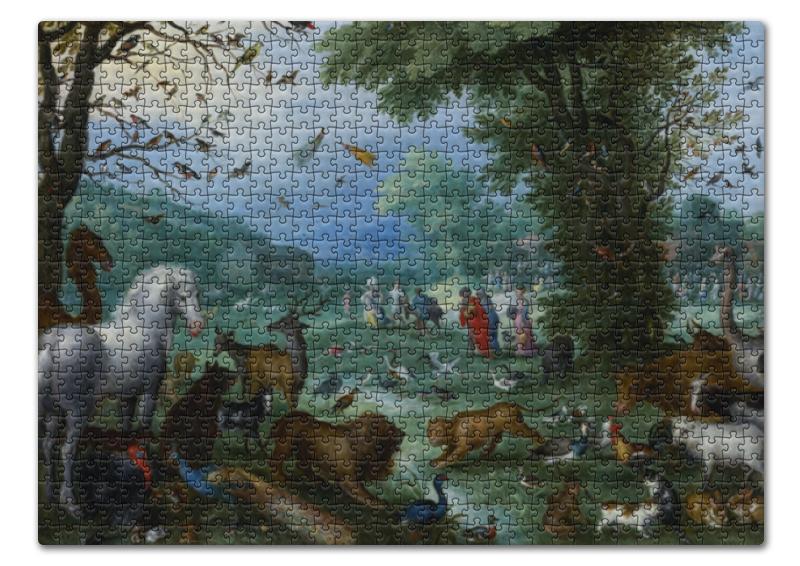 Пазл 43.5 x 31.4 (408 элементов) Printio Вступление животных в ноев ковчег (брейгель) konigspuzzle пазл ноев ковчег