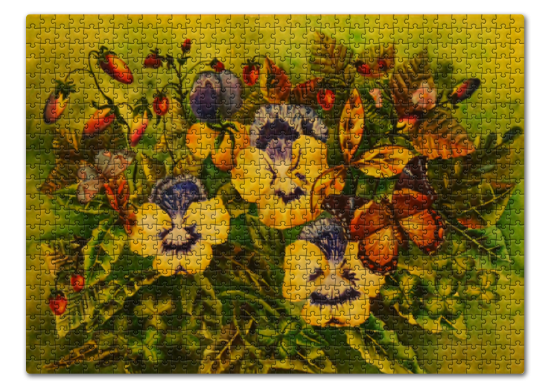 Пазл 43.5 x 31. (408 элементов) Printio Фиалки