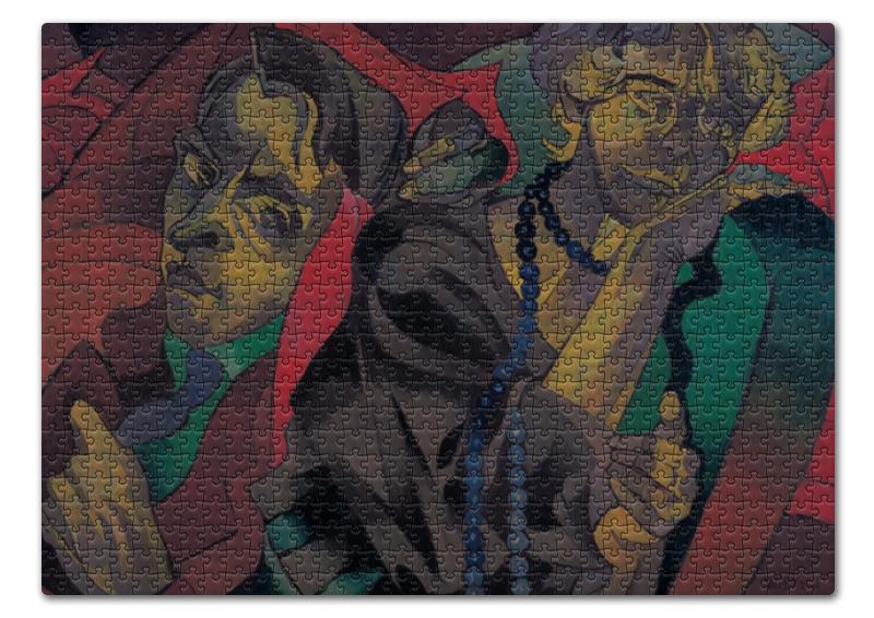 Пазл 43.5 x 31.4 (408 элементов) Printio Две головы (станислав виткевич) лем станислав непобедимый