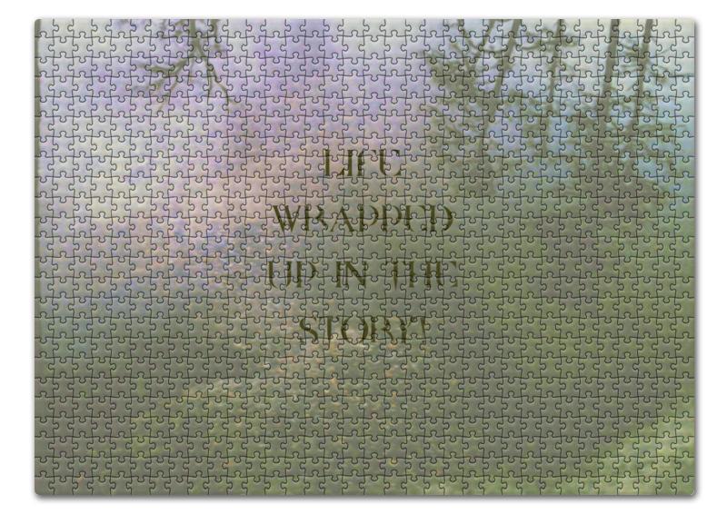 Пазл 43.5 x 31. (408 элементов) Printio Стиль арт-фэшн pine forest