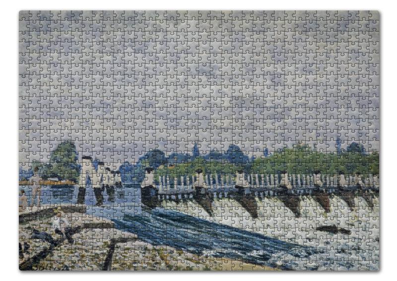 Фото - Пазл 43.5 x 31.4 (408 элементов) Printio Молси уир, хэмптон-корт (альфред сислей) сислей шедевры