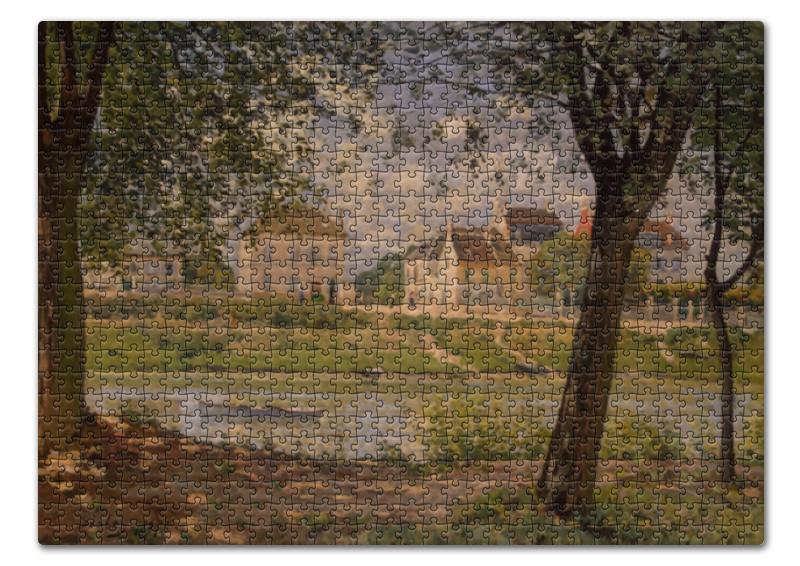 Фото - Пазл 43.5 x 31.4 (408 элементов) Printio Городок вильнёв-ла-гаренн (альфред сислей) сислей шедевры