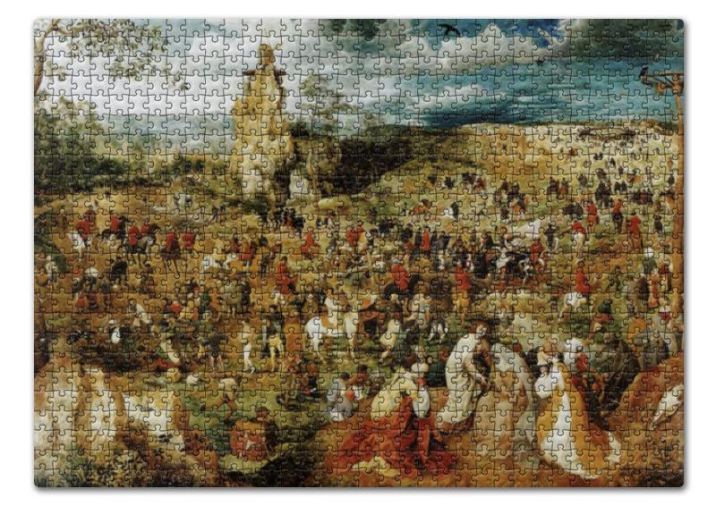 пазл 73 5 x 48 8 1000 элементов printio возвращение стада картина брейгеля Пазл 43.5 x 31.4 (408 элементов) Printio Путь на голгофу (картина питера брейгеля)