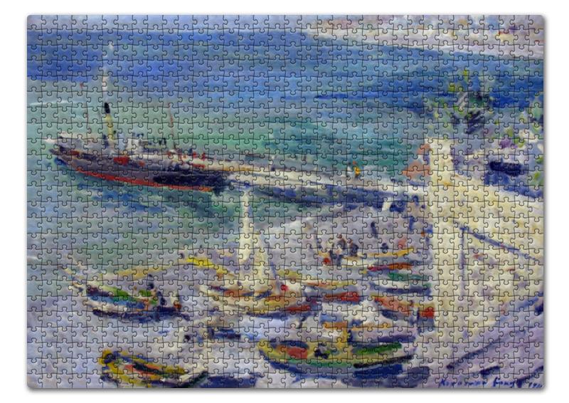 Пазл 43.5 x 31.4 (408 элементов) Printio Набережная в крыму (константин коровин) коровин в океан бога