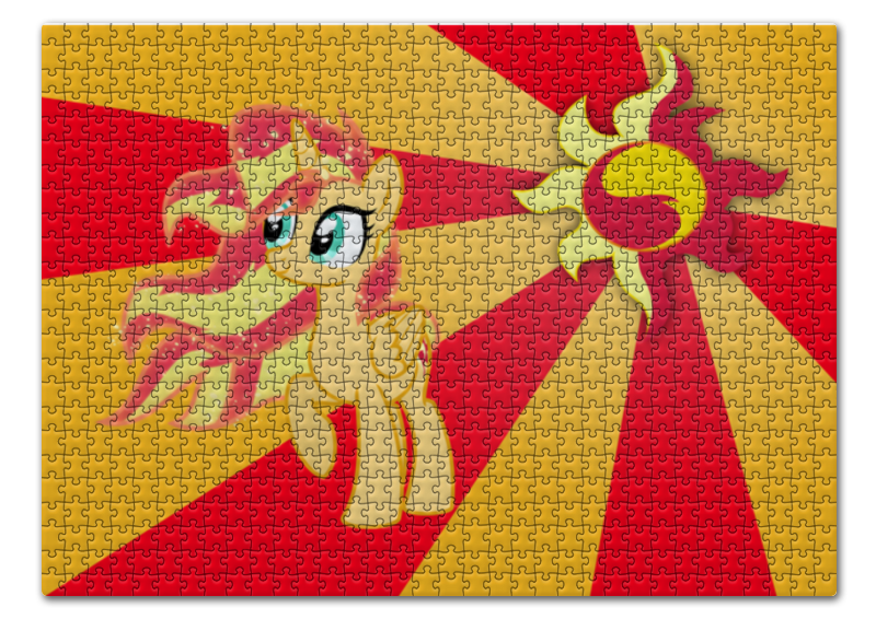 Пазл 43.5 x 31.4 (408 элементов) Printio Sunset shimmer color line пазл 73 5 x 48 8 1000 элементов printio rainbow dash color line