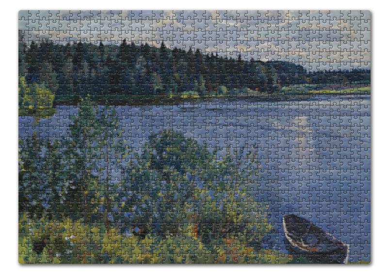 Пазл 43.5 x 31.4 (408 элементов) Printio Озеро (сергей виноградов) сергей меркулов берёзовое озеро стихи