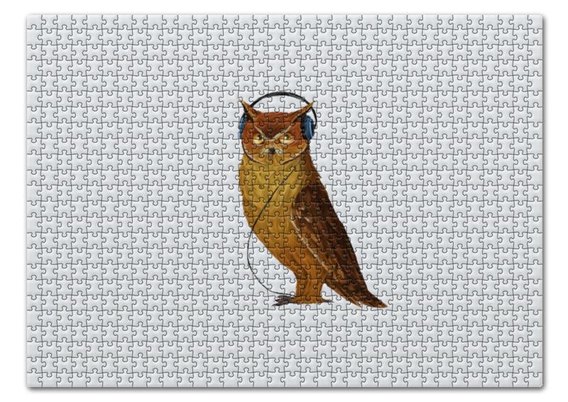 Пазл 43.5 x 31.4 (408 элементов) Printio Сова в наушниках конверт средний с5 printio сова в наушниках