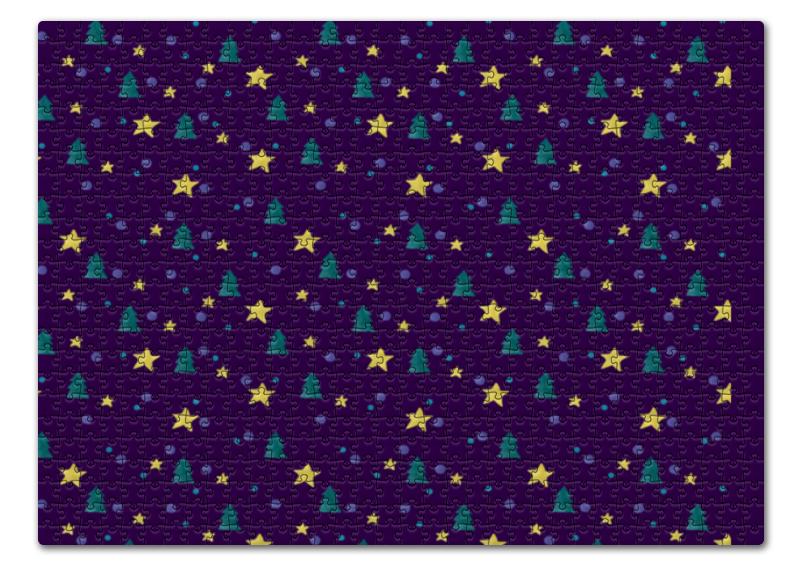 Пазл 43.5 x 31.4 (408 элементов) Printio Елки и звезды нашествие дни и ночи