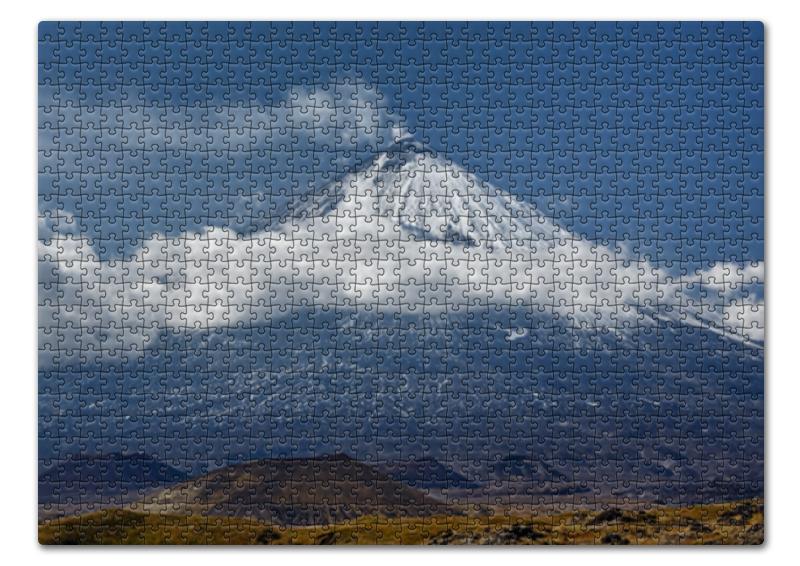 Пазл 43.5 x 31.4 (408 элементов) Printio Камчатка, осенний пейзаж, извержение вулкана