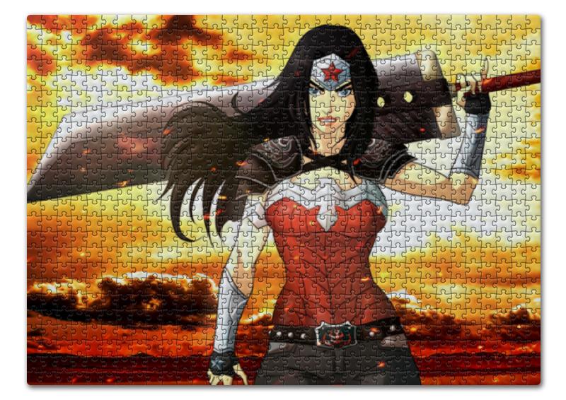 Пазл 43.5 x 31.4 (408 элементов) Printio Чудо-женщина (wonder woman)