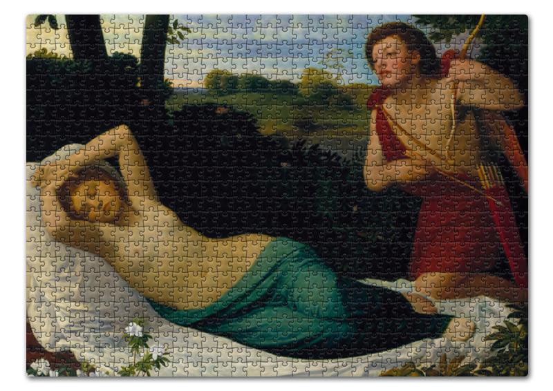 Пазл 43.5 x 31.4 (408 элементов) Printio Купидон и психея (альфонс легро)