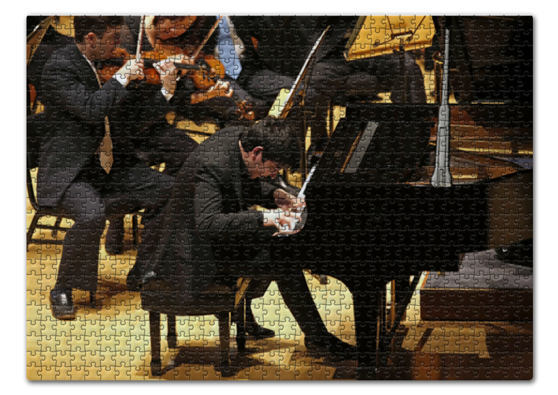 лучшая цена Пазл 43.5 x 31.4 (408 элементов) Printio Пианист