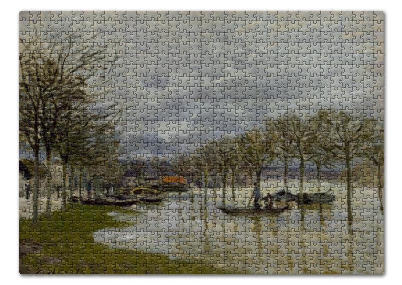 Фото - Пазл 43.5 x 31.4 (408 элементов) Printio Наводнение на пути к сен-жермен (альфред сислей) сислей шедевры