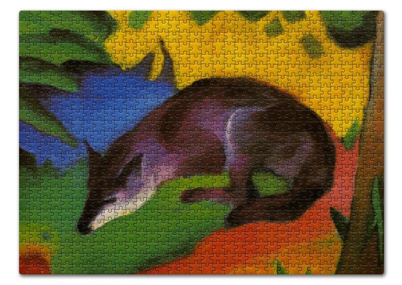 Пазл 43.5 x 31.4 (408 элементов) Printio Сине-черная лиса (франц марк)