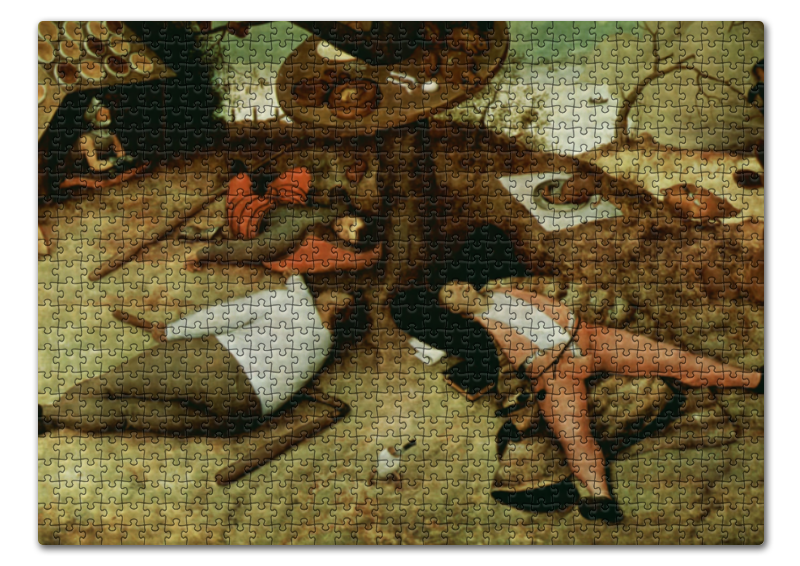 Пазл 43.5 x 31.4 (408 элементов) Printio Страна лентяев (питер брейгель старший) пазл 73 5 x 48 8 1000 элементов printio детские игры питер брейгель