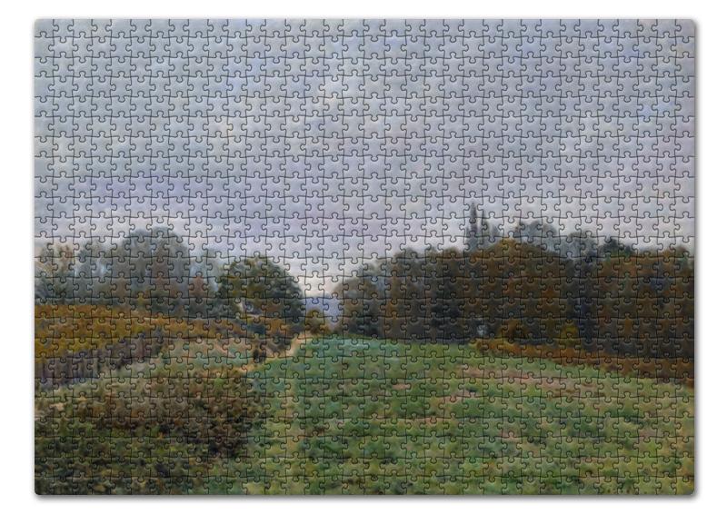 Фото - Пазл 43.5 x 31.4 (408 элементов) Printio Пейзаж в лувесьенне (альфред сислей) сислей шедевры