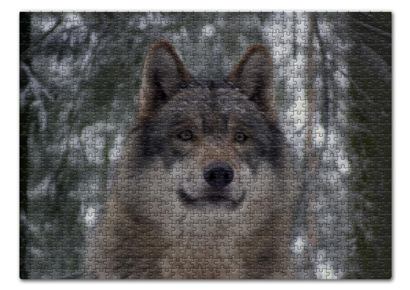 Пазл 43.5 x 31.4 (408 элементов) Printio Волк в лесу чехол для ноутбука 12 printio волк в лесу