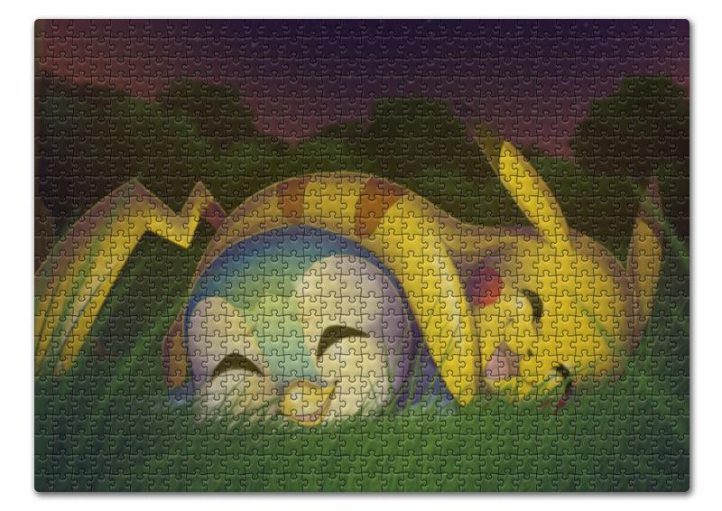 Пазл 43.5 x 31.4 (408 элементов) Printio Сон на природе (pokemon)