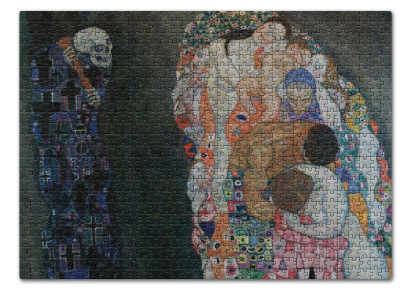 Пазл 43.5 x 31.4 (408 элементов) Printio Смерть и жизнь (густав климт) тетрадь на скрепке printio смерть и жизнь густав климт