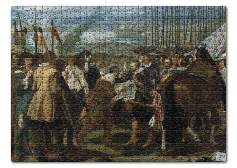 Пазл 43.5 x 31.4 (408 элементов) Printio Сдача бреды (диего веласкес) цена