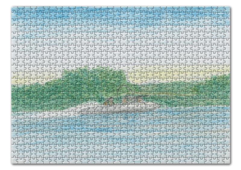 Printio Джунгли, река пазл 43 5 x 31 4 408 элементов printio река на опушке леса иван шишкин