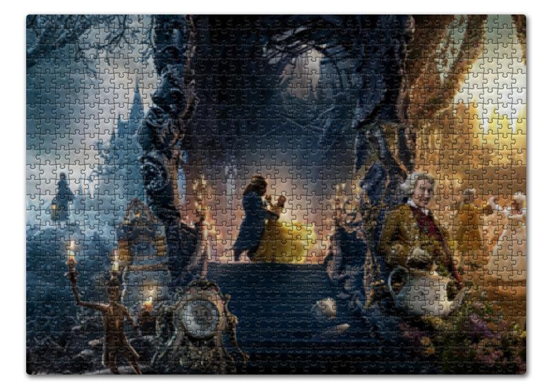 Пазл 43.5 x 31.4 (408 элементов) Printio Красавица и чудовище спящая красавица