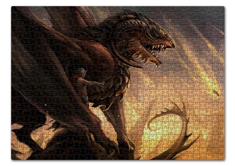Пазл 43.5 x 31. (408 элементов) Printio Дракон