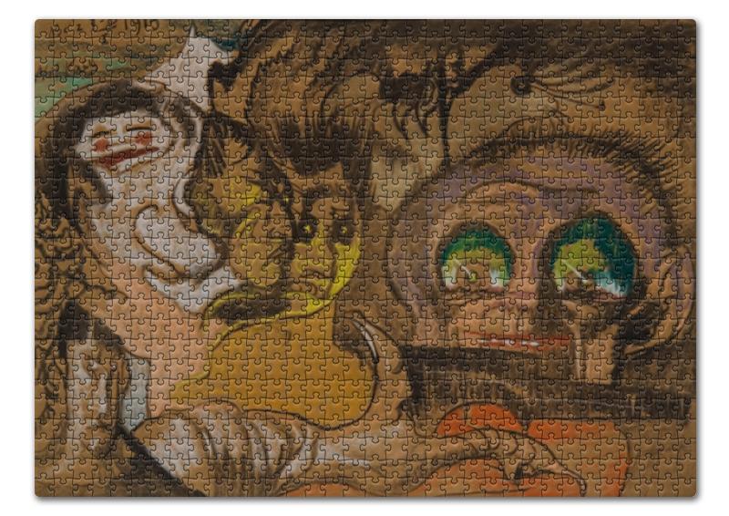 Пазл 43.5 x 31.4 (408 элементов) Printio Композиция зеленые глаза (станислав виткевич) лем станислав непобедимый