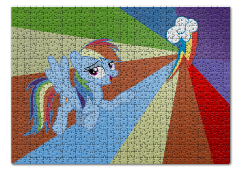 Пазл 43.5 x 31.4 (408 элементов) Printio Rainbow dash color line пазл 43 5 x 31 4 408 элементов printio applejack color line