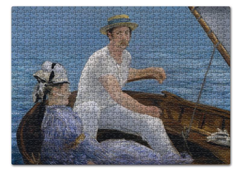 Пазл 43.5 x 31.4 (408 элементов) Printio В лодке (картина мане) стоимость