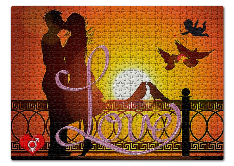 Пазл 43.5 x 31.4 (408 элементов) Printio Любовь love. свидание любовь и голуби 2019 02 09t19 00