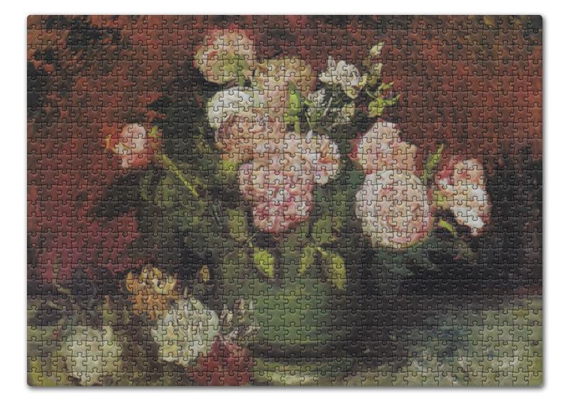 Пазл 43.5 x 31.4 (408 элементов) Printio Чаша с пионами и розами (винсент ван гог)