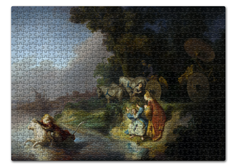 Пазл 43.5 x 31.4 (408 элементов) Printio Похищение европы (картина рембрандта) a woman bathing in a stream hendrickje stoffels репродукции рембрандта харменса ван рейн 30 x 40см