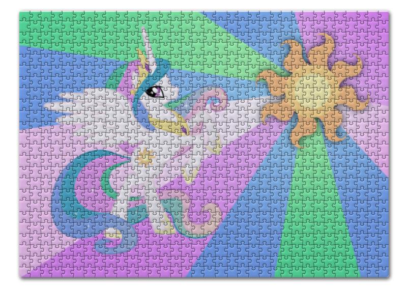 цена Пазл 43.5 x 31.4 (408 элементов) Printio Princess celestia color line