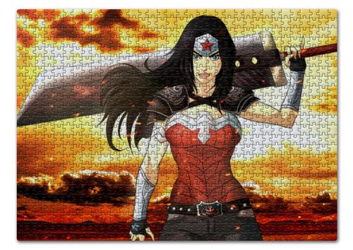 "Пазл 43.5 x 31.4 (408 элементов) ""Чудо-Женщина (Wonder Woman)"" - комиксы, dc comics, чудо-женщина, justice league, лига справедливости"