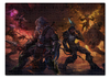 "Пазл 43.5 x 31.4 (408 элементов) ""Diablo III"" - диабло, близзард, варвар, barbarian, blizzar"