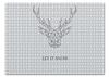 """Пазл 43.5 x 31.4 (408 элементов) """"Dear Deer"""" - рисунок, дизайн, олень, минимализм, рога"""
