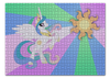 "Пазл 43.5 x 31.4 (408 элементов) ""Princess Celestia Color Line"" - magic, celestia, friendship, princess"