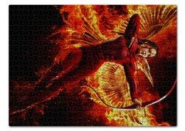 """Пазл 43.5 x 31.4 (408 элементов) """"Голодные Игры"""" - война, hunger games, будущее, дженнифер лоуренс"""