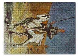 "Пазл 43.5 x 31.4 (408 элементов) ""Дон Кихот (картина Оноре Домье)"" - картина, живопись, литература, домье"