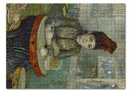 "Пазл 43.5 x 31.4 (408 элементов) ""Агостина Сегатори в кафе «Тамбурин»"" - картина, портрет, ван гог, живопись, постимпрессионизм"