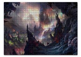 """Пазл 43.5 x 31.4 (408 элементов) """"Dark tower"""" - пещера, башня, странник"""