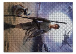 "Пазл 43.5 x 31.4 (408 элементов) ""Звездные войны - Рей"" - фантастика, звездные войны, дарт вейдер, кино, star wars"