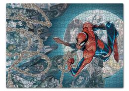 "Пазл 43.5 x 31.4 (408 элементов) ""Человек-паук (Spider-man)"" - комиксы, spider man, марвел, человек-паук, питер паркер"